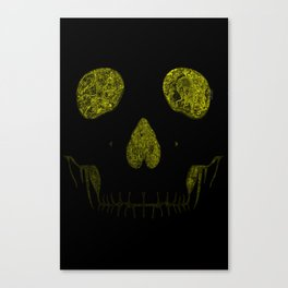 SKULLFACE #1 - YELLOW Canvas Print