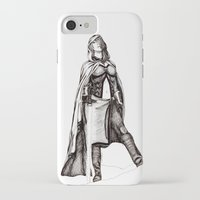 jedi iPhone & iPod Cases featuring Grey Jedi by Margret Stewart