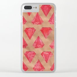 Rubies Clear iPhone Case