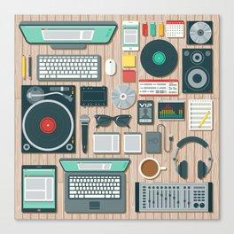 DJ's Workspace Canvas Print