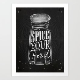 Pepper castor spice chalk Art Print