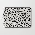 Polka Dots Dalmatian Spots Black And White by beautifulhomes