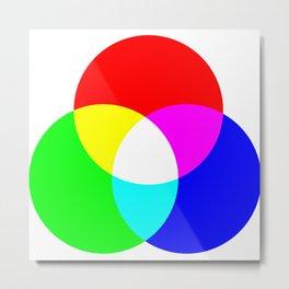 Red Green Blue Light Makes White Metal Print