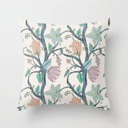 botanical pastel Throw Pillow