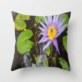 Enchanting Lotus Throw Pillow
