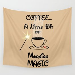 Coffee Morning Magic Wall Tapestry