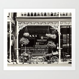 Old Coffee shop Art Print
