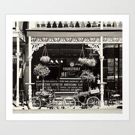 Old Coffee shop Art Print
