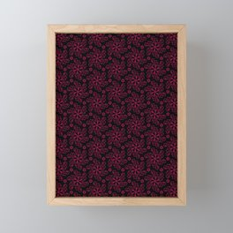 Red Wire Snowflakes Framed Mini Art Print