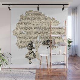 Alice In Wonderland Vintage Book Wall Mural