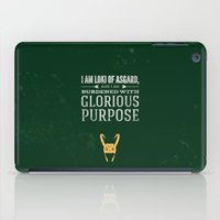 loki iPad Cases featuring Loki by Bonnie Detwiller