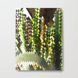 Cactus Garden Abstract Triangles 2 Metal Print
