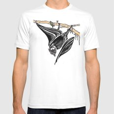 It's a Bat Man............... White SMALL Mens Fitted Tee