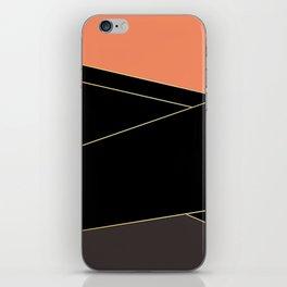 Angelica . Coral , black , brown iPhone Skin