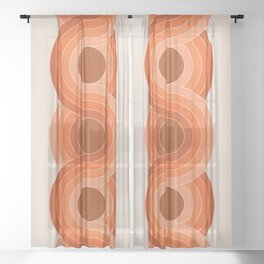 Red Rock Chain Sheer Curtain