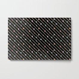 Striped Terrazzo I Metal Print