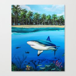 Palm Tree Reef Canvas Print