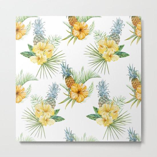 Pineapple Pattern 01 Metal Print