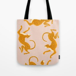 Leopard Race - pink Tote Bag