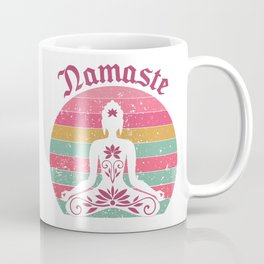 Namaste pink retro Coffee Mug