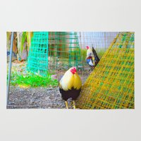 chicken Area & Throw Rugs featuring chicken by aticnomar