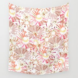 Pastel Flower Wall Wall Tapestry