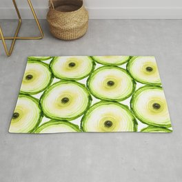 Tree Ring - Chartreuse Rug
