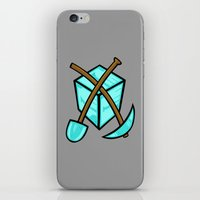 geology iPhone & iPod Skins featuring It's All About The Diamonds by Artistic Dyslexia