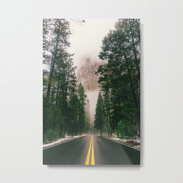 On the Road III / Yellowstone Metal Print