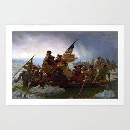 Washington Crossing the Delaware by Emanuel Leutze Art Print