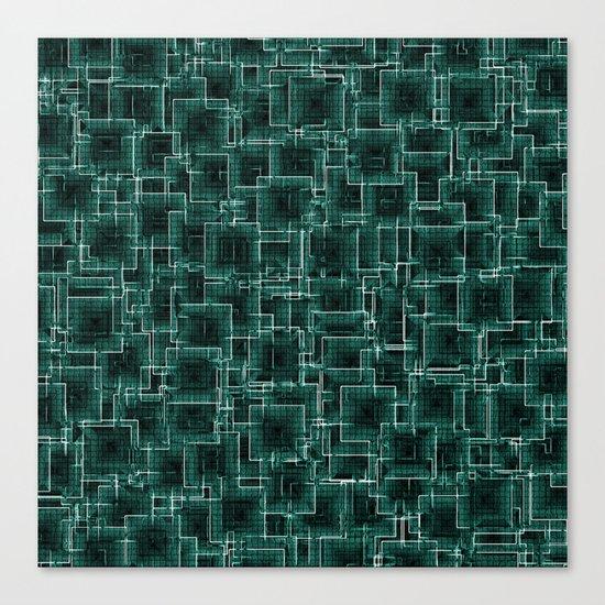 The Maze - Teal Canvas Print