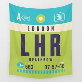Retro Airline Luggage Tag - LHR London Heathrow Wall Tapestry