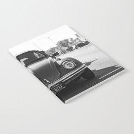 Hermosa Beach Surf Bug, Black and White Photography Print, Beach Art, South Bay Los Angeles Art Notebook