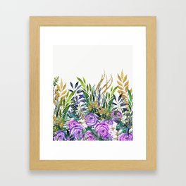 Gold Glitter Purple Garden Framed Art Print