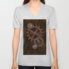 Comforts of Steampunk Unisex V-Neck