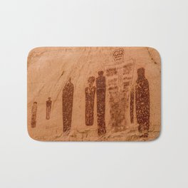 Great Gallery Holy Ghost Pictograph - Canyonlands National Park Bath Mat