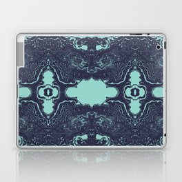 Shinzi - spilled ink abstract painting marble japanese paper marbling unique original art print Laptop & iPad Skin