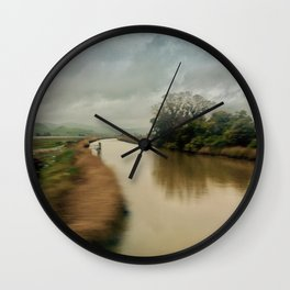 American River Wall Clock