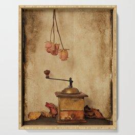 Vintage coffee grinder Serving Tray