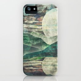 Moon Child Mountain and Lake at Night iPhone Case