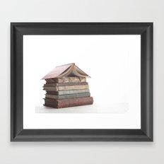 Book Cabin Framed Art Print