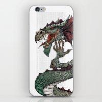dragon iPhone & iPod Skins featuring dragon by Erdogan Ulker