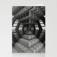 cyberpunk Stationery Cards featuring Time vs. Monolith by Obvious Warrior