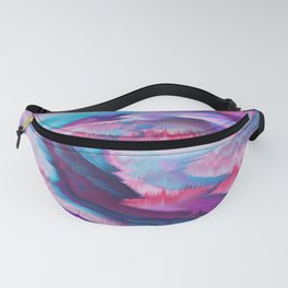 Abstract modern violet pink teal watercolor Fanny Pack