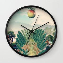 The Hiding Fox Wall Clock