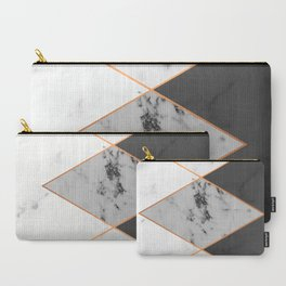 Geometric marble & copper Carry-All Pouch