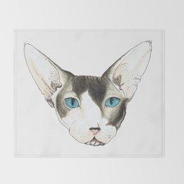Hairless Cat Throw Blanket