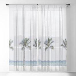 Palm trees 6 Sheer Curtain