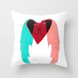 Angel kissing Throw Pillow