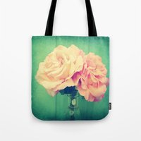 roses Tote Bags featuring Roses by 2sweet4words Designs